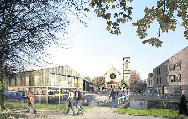 An artist's impression of the revamped wharf