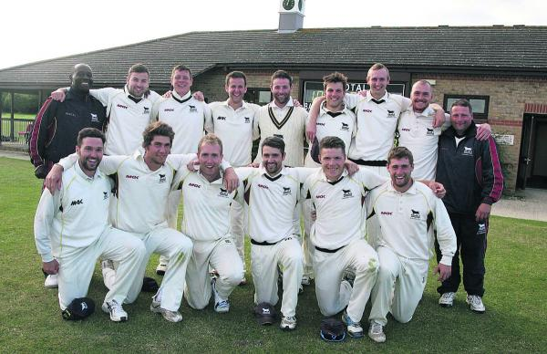 The Oxfordshire squad celebrate their victory over Wiltshire