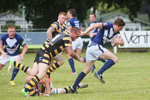 Oxford RL debutant Sam Egerton on the charge against York City Knights