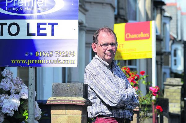 Oxford Mail: Residents' Association chairman Martin Stott in Divinity Road, East Oxford