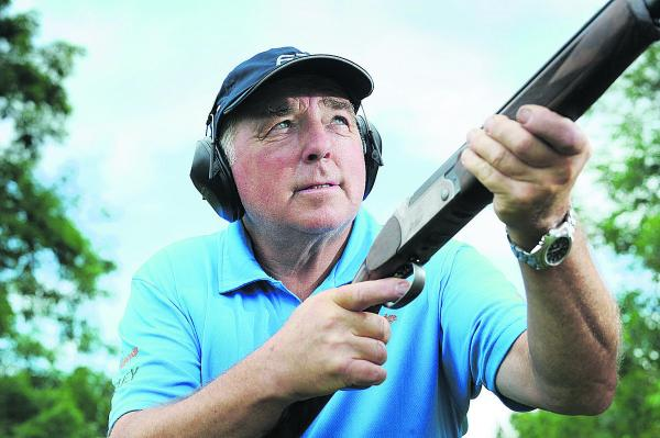 Clay pigeon shooting champion John Bidwell                   Picture: OX68635 Jon Lewis