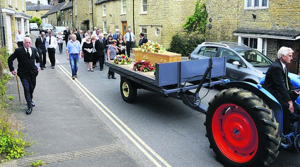 he tractor and trailer funeral cortege for Charlbury man Trevor George Bateman                    Picture: Mark Hemsworth