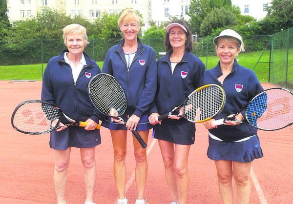 Oxford Mail: Oxfordshire Ladies Over 50s team (from left): Liz Gilkes, Ana Coggon, Ces Wheeler, Carole Smythe