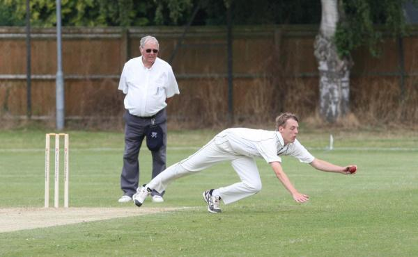 Chris Leaney, seen here fielding during his 7-46 for Aston Rowant 2nd against Oxford