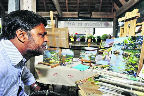 Organisers hope sun continues to shine on artists at work