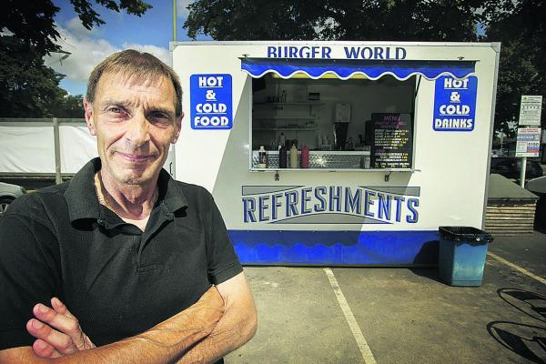 Les Bayliss, of Burger World, who trades outside the Wickes store in Botley Road