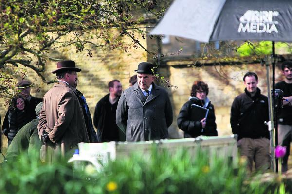 Filming of Downton Abbey in Bampton has led to an influx of visitors to the village