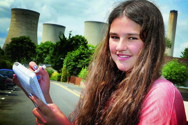 Twelve-year-old Alex Foley, of Didcot, who has written a poem dedicated to Didcot Power Station