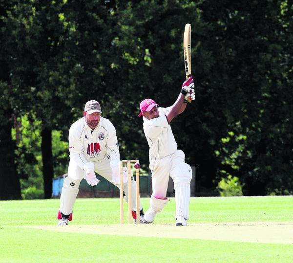 Tetsworth's Suranga Wimalasuriya is clean bowled during their seven-wicket defeat at Radley in Division 2