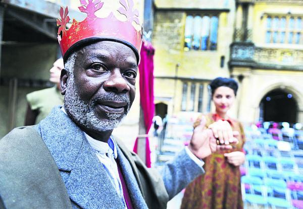 Joseph Marcell as King Lear and Shanaya Rafaat as Regan