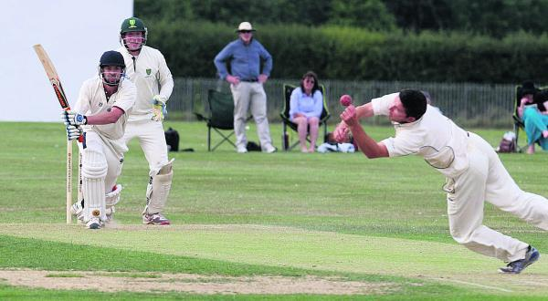 Banbury's Liam Manley is almost caught by Henley's Ewan Brock