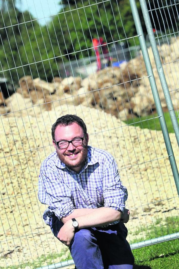 City councillor Ed Turner at the construction site. Picture: OX68717 Ed Nix