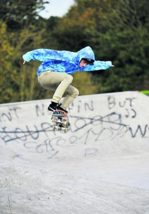 James Needham at the skate park     Picture: OX63429  Mark Hemsworth