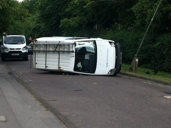 Van overturns in Jack Straw's Lane, Oxford