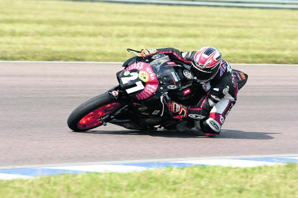 Georgina Polden takes this bend in great style at Rockingham
