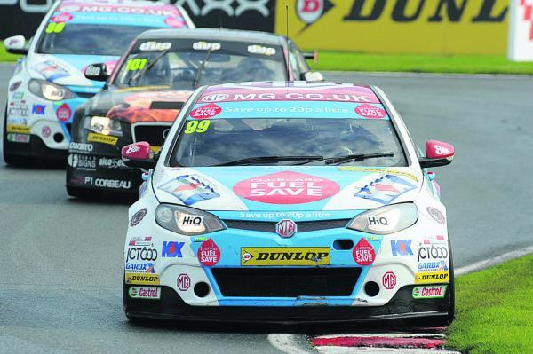 Jason Plato, seen in action earlier this season, is raring to go at Snetterton tomorrow