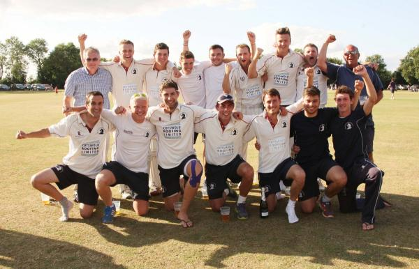 Great & Little Tew celebrate after making it through to the Lord's final with a nine-wicket destruction of Dinton