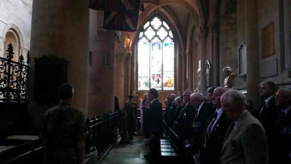 Military chapel at Christ Church Cathedral falls silent in memory of the fallen