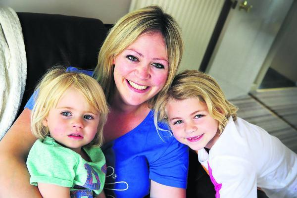 Penny Gilbert from Didcot, who runs children's play business The Creation Station, with her two daughters  Vesper, two, left, and Lilia, six