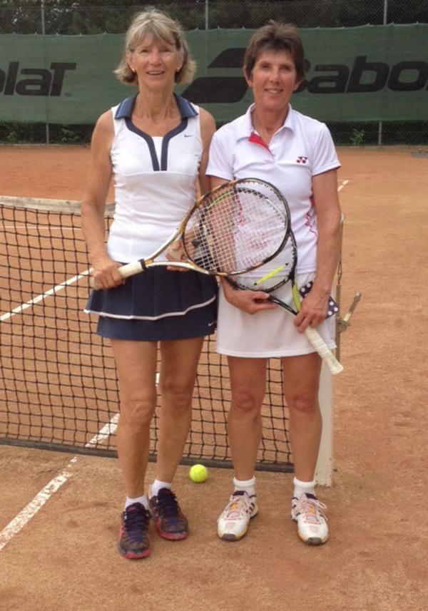 Liz Bamber (right) with runner-up Helene Giraudon