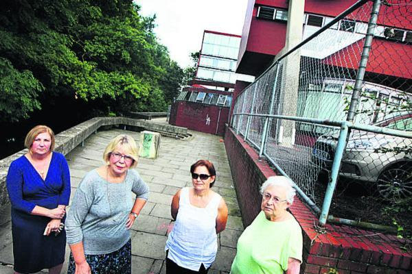 From left, steward Susan Tutty, home bursar Linda Irving-Bell, and residents Anna Kostro and Leatrice Beeson