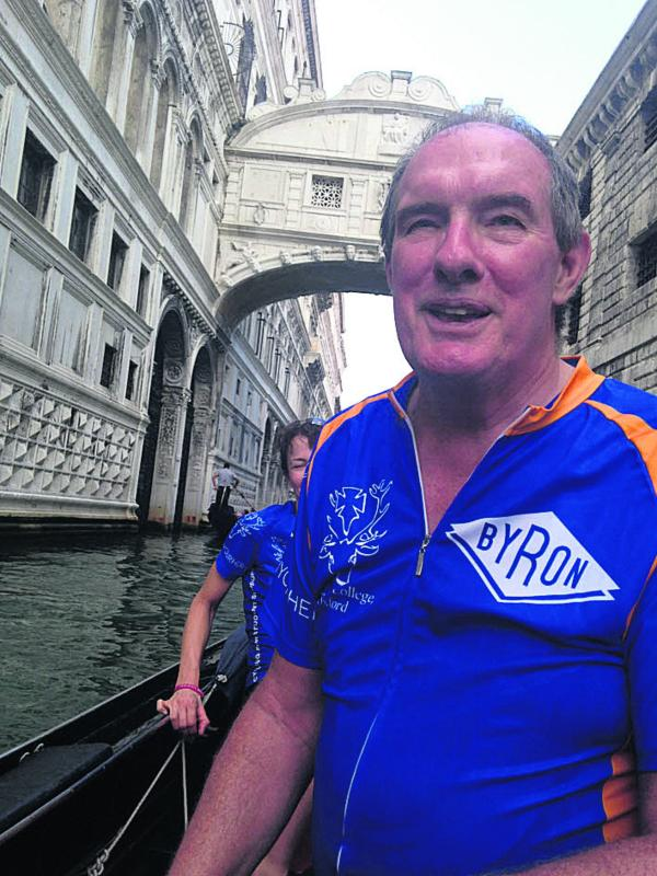 Will Hutton at the Bridge of Sighs in Venice