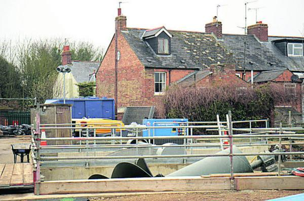 The hydro-electric turbine at Osney Lock