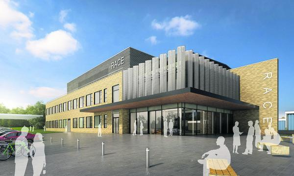 An Artist's impression of the new centre of excellence proposed by RACE