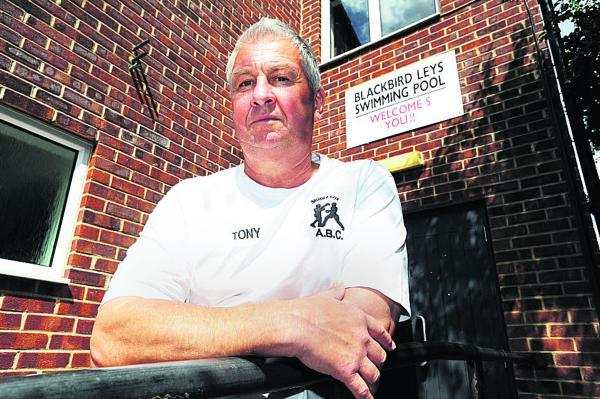Boxing club coach Tony Gibson outside the old pool