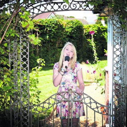 SPECIAL PRIZE: Maia Hawkins pictured in the garden at her home in Harwell