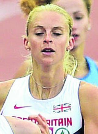 Hannah England on her way to sixth in Zurich last night