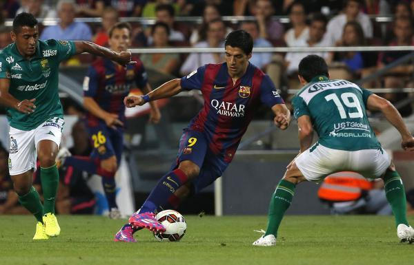 Luis Suarez made his debut for Barcelona against Mexican side Leon on Monday night