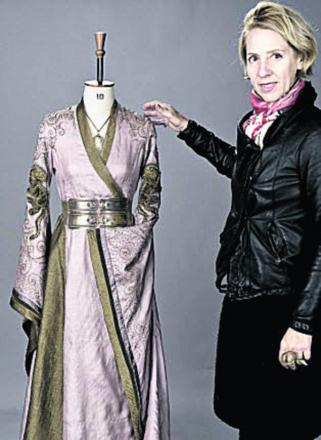 Michele Clapton with one of her creations for Games of Thrones