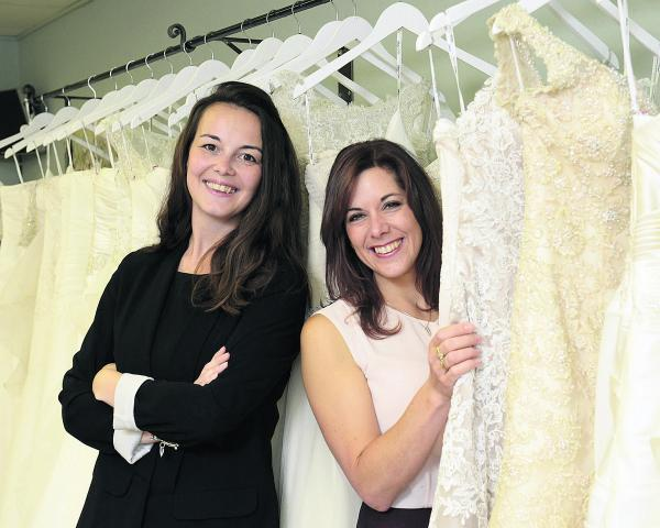 SUPPORT: Lisa Robey, left, NatWest's director of business banking for Oxfordshire, and Madelaine Orlando, from Bicester Bridal