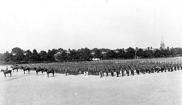 ON PARADE: The 2nd Battalion at Aldershot 1914