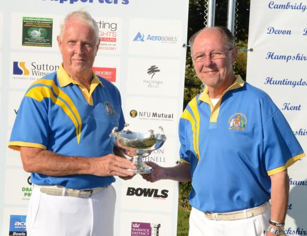 Oxford Mail: Mike Petersen (left) and Alan Ley, with the runners-up trophy at the National Senior Pairs Championship