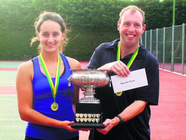 Alice Atkins and Matt Davies with their trophy