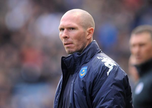 Michael Appleton pictured as Portsmouth manager