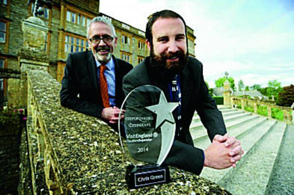 James Berresford, chief executive of VisitEngland, left, with Chris Green, the 2014 Oxfordshire Cotswolds Tourism Superstar