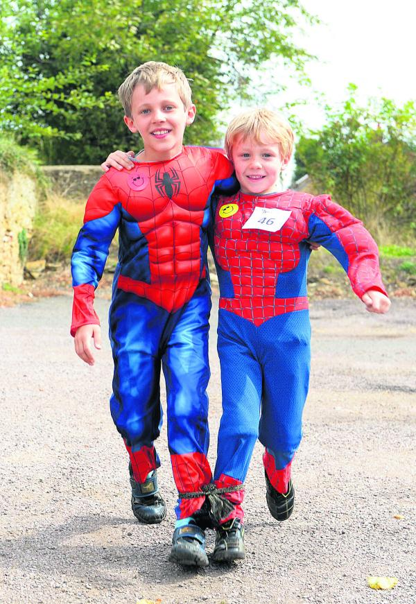 Brothers Leo, left, and Euan Beckett stepping out