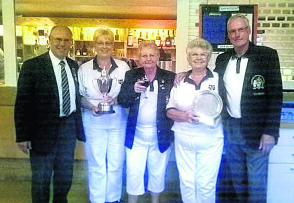 The finalists in the Ian Pearce Memorial Trophy (from left): Keith Mobley, Carol Mobley, Beryl Pearce, Letitia Batten, Richard Green