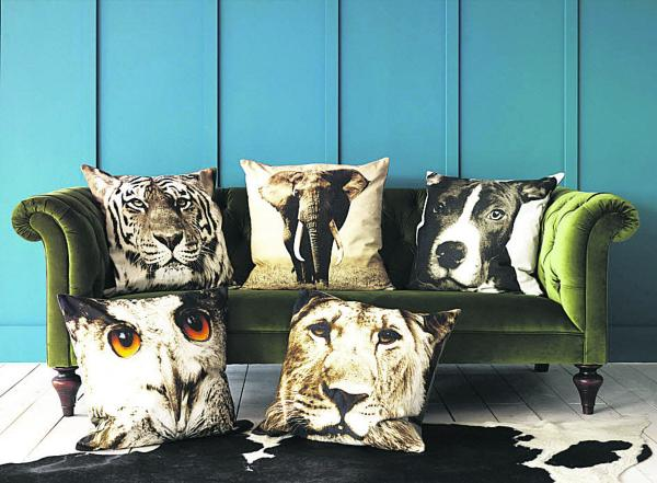 Digital print cushion covers, £55, Graham & Green. Available from September