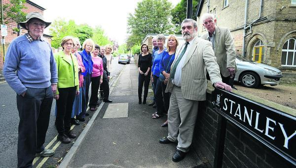 County councillor David Williams, front right, with local residents who oppose the mosque bid to have parking restrictions eased 	    Picture: OX69545 Richard Cave