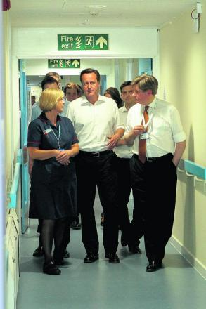 Prime Minister and Witney MP David Cameron on a tour of Witney Community Hospital's new Emergency Multidisciplinary Unit in June. The review of food took place in March