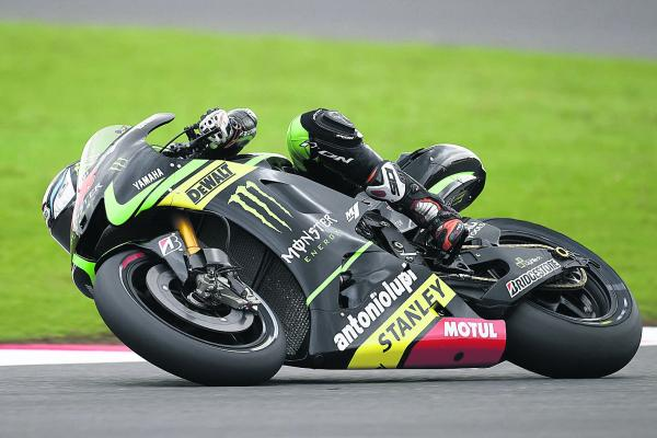 Oxfordshire's Bradley Smith on his way to fourth in practice for tomorrow's British Grand Prix at Silverstone