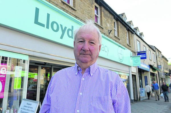 Loyal customer Michael Mann outside Lloyds Pharmacy's shop in Witney High Street