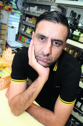 Kulwant Singh says the new Tesco store in Abingdon Road, on the old Fox and Hounds pub site, is having a dramatic impact on his shop