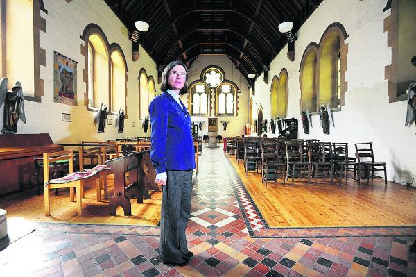 The Rev Clare Sykes inside St Frideswide's Church, which needs a new heating system 			                 Picture: OX69576 Jon Lewis