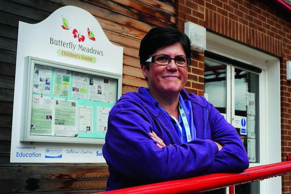 Cheryl Huntbach at the Butterfly Meadows Children's Centre in her 'day job'   Picture: OX69528 Jon Lewis
