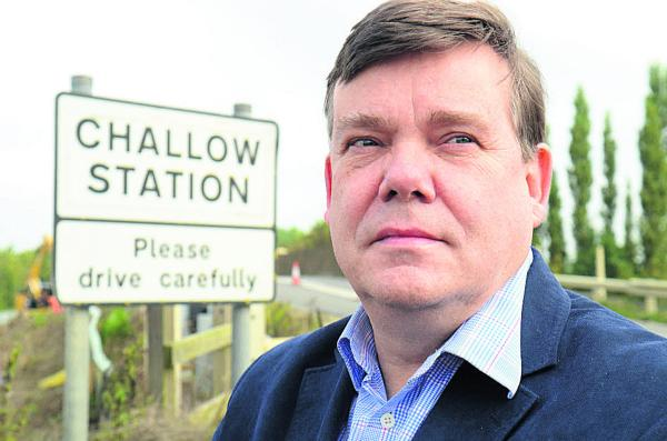 StJohn Dickson fears the worst over the impending closure of the A417 Challow Station road bridge